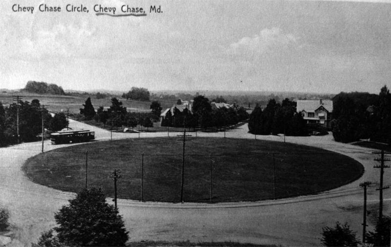 Chevy Chase Circle when it was brand new
