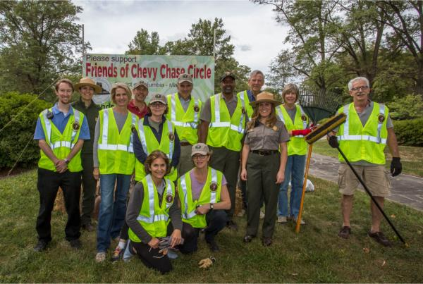 Celebrants and participants in our September Spruce Up the Circle